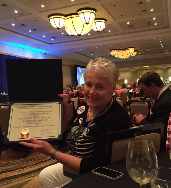 Kentucky wins Achievement Award at NFRW Convention in Phoenix, AZ! So proud of all of our KY clubs!